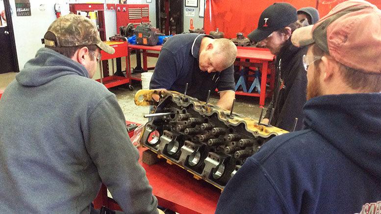 Carter Machinery, dealer for Caterpillar, Donates Engine